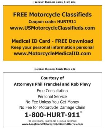 cards showing personal injury attorney advertising